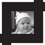 Portraits Button - Baby photograph